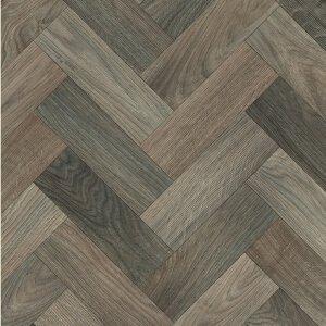 Vinyl Wood & Concrete light brown & grey chevrons 1028